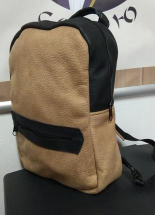 Чорно коричневий рюкзак, черно коричневый рюкзак
