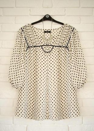 Легкая блуза из шифона f&f uk22 в идеальном состоянии