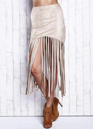 Новая женская юбка с бахрамой bsl fashion 17-43