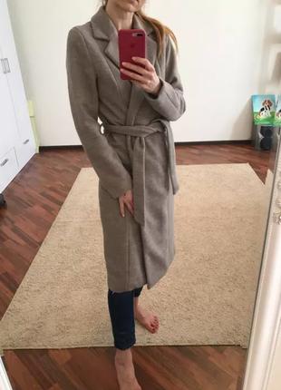 Длинное пальто only s 30% шерсть