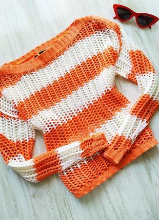 Вязаный яркий свитерок 💕