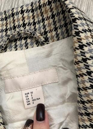 Пальто p.xs zara mango в гусиную лапку6 фото
