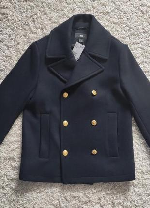 Пальто h&m мужское шерсть (оригинал) м