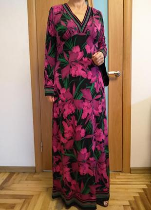 Цветное красивое платье в пол. размер l