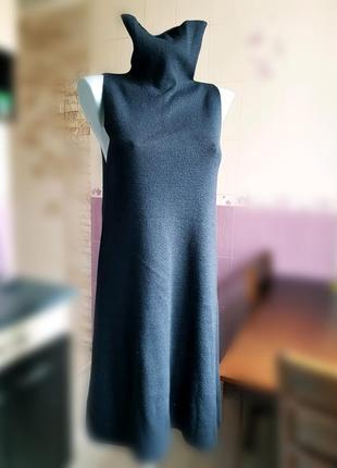 Бесшовное платье с горловиной и пикантным вырезом на спине  twin set