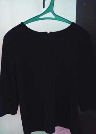 Черная классическая блуза