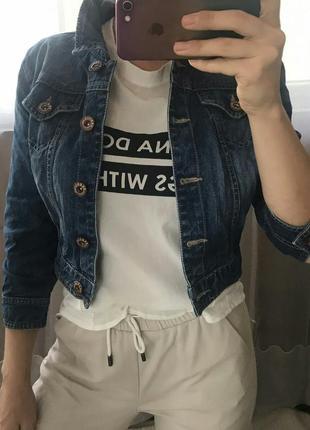 Укороченная курточка джинсовая yes yes