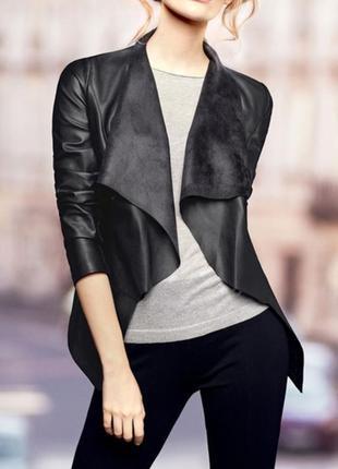 Черная куртка курточка аля пиджак косуха