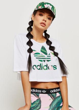 Укорочённая оверсайз футболка (топ) adidas originals