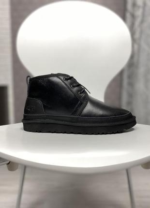 Ugg neumel black waterproof шикарные мужские сапоги ботинки угги с мехом зимние теплые