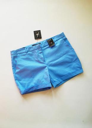 Голубые короткие шорты