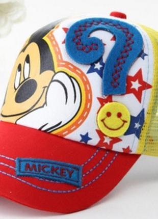 Модель №188 детская кепка. бейсболка микки маус