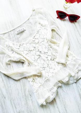 Белая красивая блуза 😍