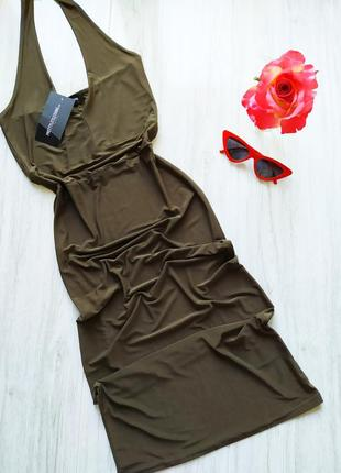 Новое платье по фигуре хаки 🖤