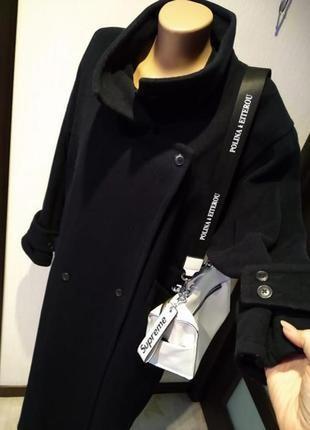 Крутое мягусенькое стильное кашемировое пальто макси