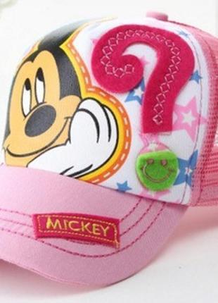 Модель №188.2 детская кепка. бейсболка микки маус