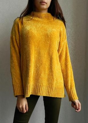 Афигенный яркий плюшевый велюровый свитер