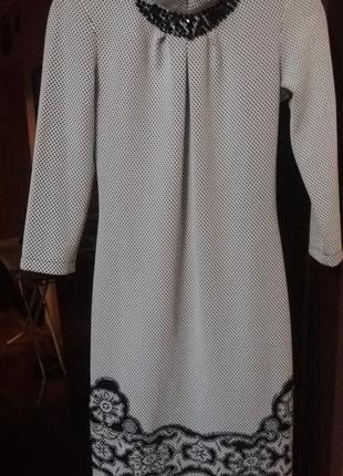 Нарядное, стильное платье, с вышивкой, размер с defile lux