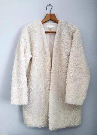 Пальто плюшевое тедди шуба мех куртка дубленка кардиган