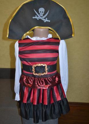 Карнавальные костюм, платье пирата 2\3г