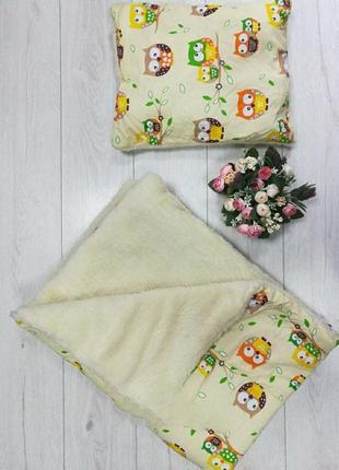 Тёплое одеяло и подушка комплект детский