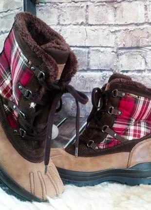 Зимние ботинки geox. оригинал. натуральная кожа.