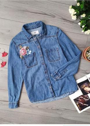 Сорочка / рубашка / джинсова / з вишивкою / джинс / джинсовая с вышивкой