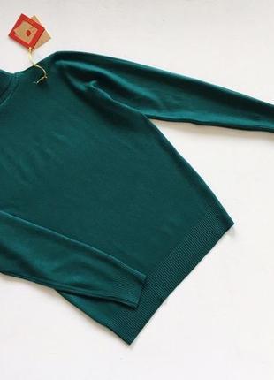 Новый стильный гольф натуральная ткань цвет изумрудный зеленый l-xl