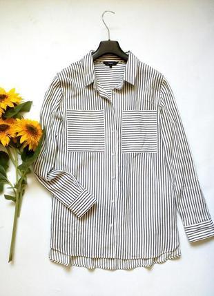 Плотная рубашка свободного кроя