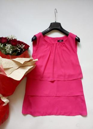 Красивая розовая блуза с воланами 10