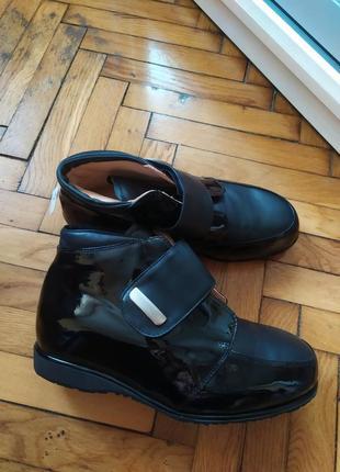 Ботинки ортопедические, кожаные, демисезонные, черевики демісезонні,