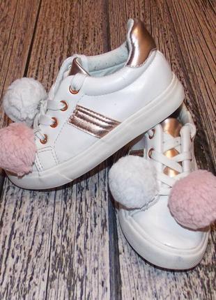 Гламурные кроссовки primark для девочки, размер 27