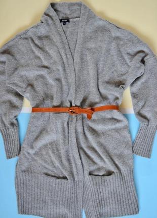 Светло-серый кардиган с шерстью и ангорой