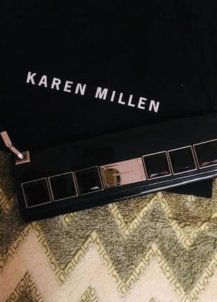 Лаковый клатч karen millen