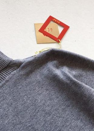 Новый стильный гольф натуральная ткань цвет серый размер l-xl