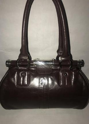 Англия! кожаная дизайнерская сумка- саквояж на/ в руку jane shilton.