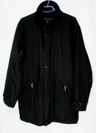Bush куртка пальто мужская делового стиля на синтепоне черная размер xl