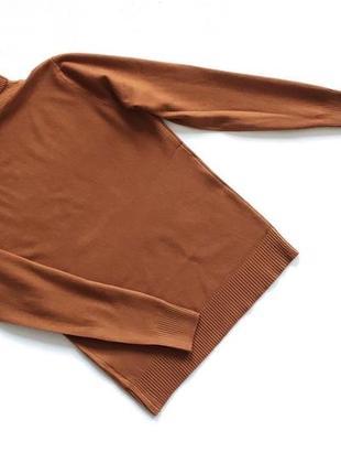 Новый стильный гольф натуральная ткань цвет коричневый l-xl