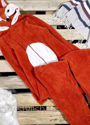 Слип человечек пижама лисичка костюм для дома очень теплый