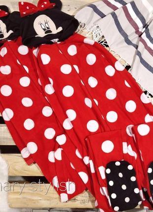 Слип человечек пижама минни маус костюм для дома