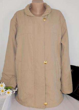 Брендовая утепленная куртка с карманами без капюшона damart большой размер синтепон