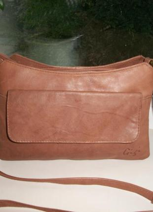 Оригинальная сумка кроссбоди gizia , 100 % натуральная кожа