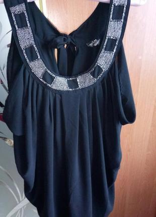 Чёрное коктейльное платье кокон шифон на хеллоуин, хэллоуин