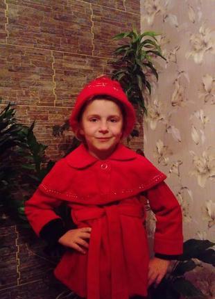 Оригінальне пальтішко+шапка