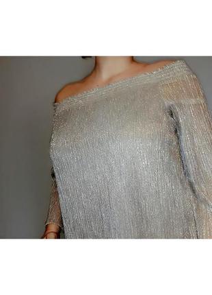 Блуза с открытыми плечами julienmacdonald star на 16-20/52-56 размер. италия