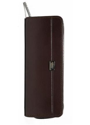 Футляр для ручек кожаный rovicky на молнии li-2571-asl brown