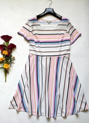 Фактурное мягкое платье в полоску 20