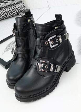 Ботинки кожа, зимние