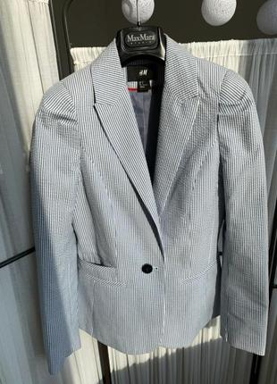 Пиджак жакет боейзер кардиган накидка полосатый