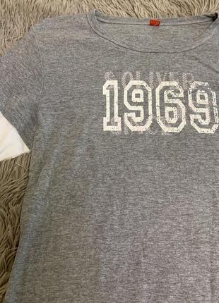 Базовая серая футболка с длинным рукавом s.oliver